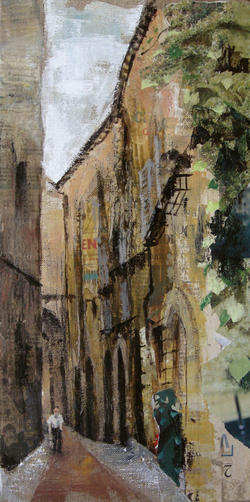 Italy street painted by naomorigo