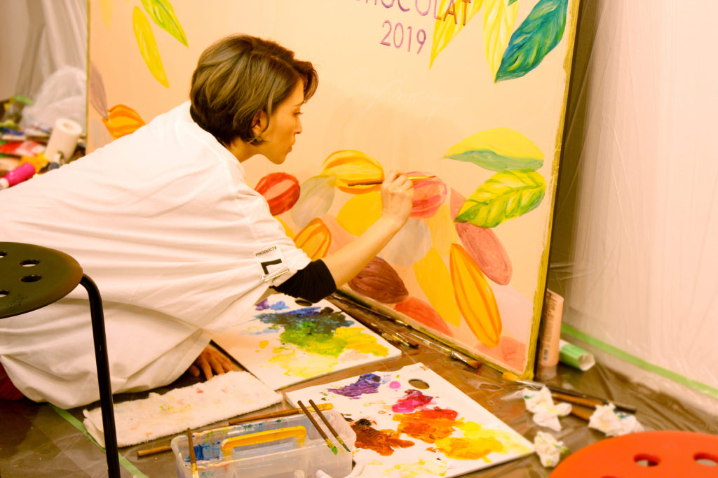 live painting at isetan department store